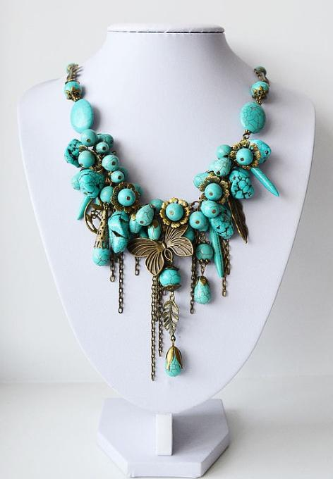 Mix Turquoise Beads Necklace